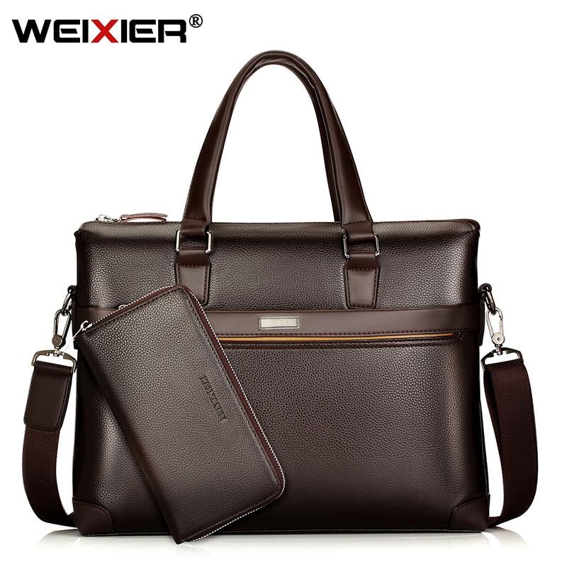 Men's Shoulder Briefcases Bag Handbags Business Men Bags Large Travel Laptop Bag For Man Messenger Bags PU Leather Handbags