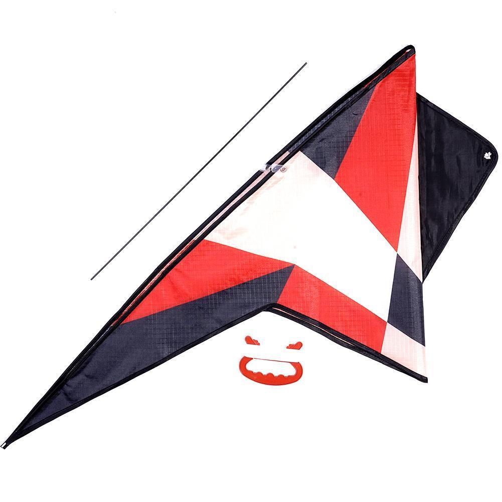 Outdoor Color Triangle Kite With 30m Dual Line Flying Toys For Adults Sports Hard-winged Children Outdoor Kite Triangle Kit U9C4