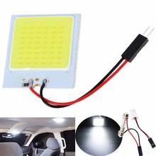 1pcs White T10 COB 12V 4W Car Led Panel Lamps Car Interior Reading Lamp Bulb Light Dome Festoon Lmap 31 4w 4x5050 t10 car festoon white light led bulb dc 12v