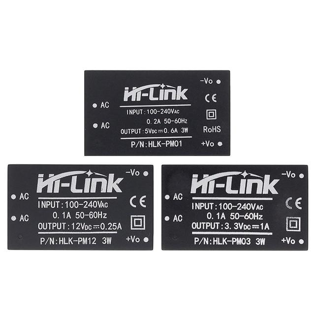 10 個HLK PM01 HLK PM03 HLK PM12 AC DC 220vミニ電源モジュール、インテリジェント家庭用スイッチ電源モジュール