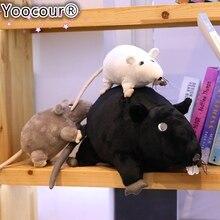 1 adet 20cm yeni Mini yumuşak peluş simülasyon fare peluş bebek dolması sıçan peluş hayvan oyuncak maskot Peluche fare bebek çocuklar için