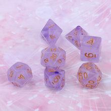 Драгоценный камень многогранные 4-стороннее игра в кости D4 D6 D8 D20 D & D TRPG ролевая игра