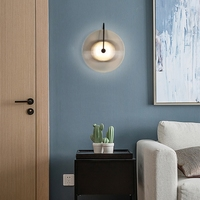 Nordic modern simple creative glass living room wall lamp art bedside LED bedroom sofa next to the model room wall lamp E27