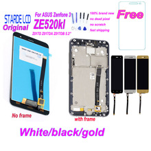 купить Starde 5.2'' LCD for Asus Zenfone 3 ZE520KL Z017D Z017DA Z017DB ZE 520KL LCD Display Touch Screen Digitizer Assembly with Frame дешево