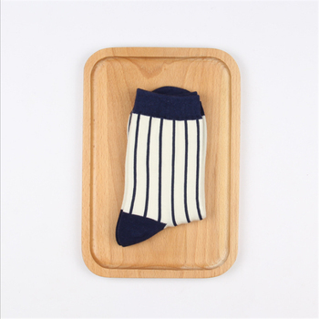 1 Pair Japanese Lattice & Vertical Stripes Harajuku Women/Men Fashion Causal Socks Autumn Winter Classic Black&White Socks