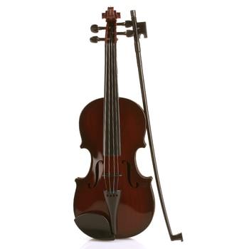 39CM Studnets Acoustic Violin Playing Musical Instruments Durable Kids Violin Children Black Practical Toys Children'S Violin violin accessories violin gills violin jujube gills musical instrument accessories violin learn violin