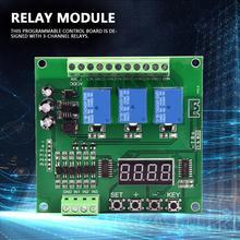 цена на YYS-4 3-channel Programmable Relay Control Module Trigger Delay/Timer/Self-latching/Interlock Switch relay board