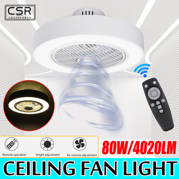 Modern Acrylic Light Ceiling Fan Lamp Remote Control Three Color Dimming Ceiling Fan Light White Decor Light For Home Ac185 250v Leather Bag