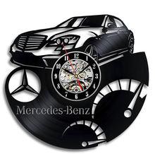 Виниловые настенные часы mercedes benz популярные ретро ностальгические