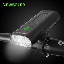 Newboler 5200 мАч велосипедный светильник usb Перезаряжаемый