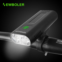 NEWBOLER 5200mAh Fahrrad Licht USB Aufladbare Bike Scheinwerfer LED Rücklicht Leistungsstarke Taschenlampe Radfahren Lampe Fahrrad Zubehör