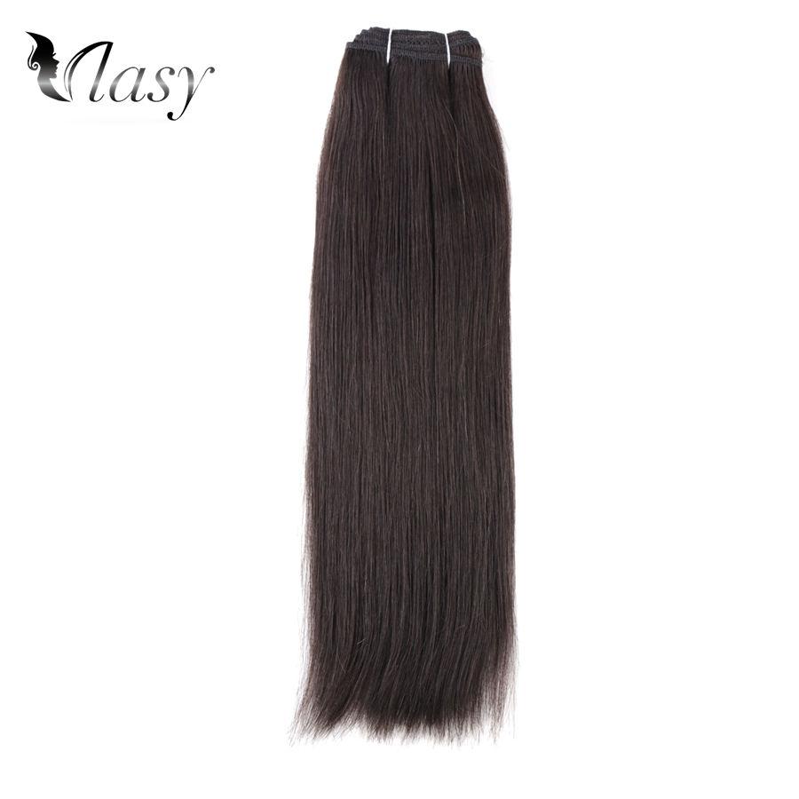 Vlasy 100g/pc Remy Hair Weft Double Drawn Salon Dark Color European Straight Double Drawn Human Hair Extensions 24''