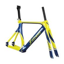 Карбоновая велосипедная Рама 54 см Aero T700 карбоновая велосипедная Рама с вилкой и подседельный штырь передний тормоз 700X23C колесо