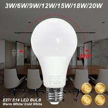 E27 Led Bulb 3W 6W 9W 12W 15W 18W 20W Led Light Bulb E14 Bombillas 2835 SMD Super Bright Led Spot Light 220V Home Decor Lighting