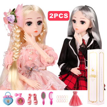 цена на (BUY 1 GET 1 FREE)  BJD Doll,1/4 SD Dolls 18 Ball Jointed Dolls with Clothes Outfit Shoes Wig Hair Makeup Best Gift for Girls