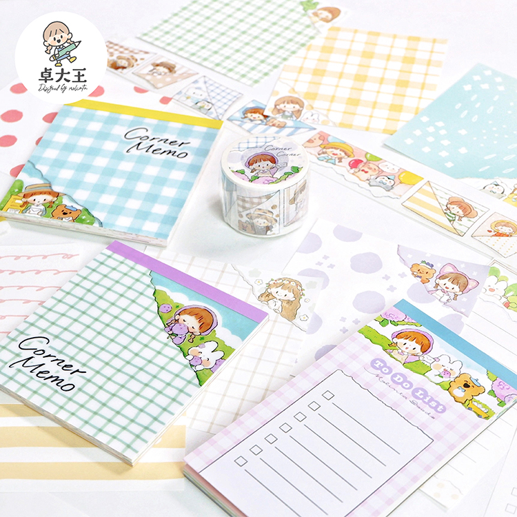 20sets/lot Memo Pads Sticky Notes Molinta Open the corner Paper diary Scrapbooking Stickers Office School stationery Notepad