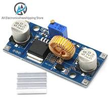 1PCS 5A XL4015 DC-DC 4-38V to 1.25-36V 24V 12V 9V 5V Step Down Adjustable Power Supply Module LED Lithium Charger With Heat Sink(China)