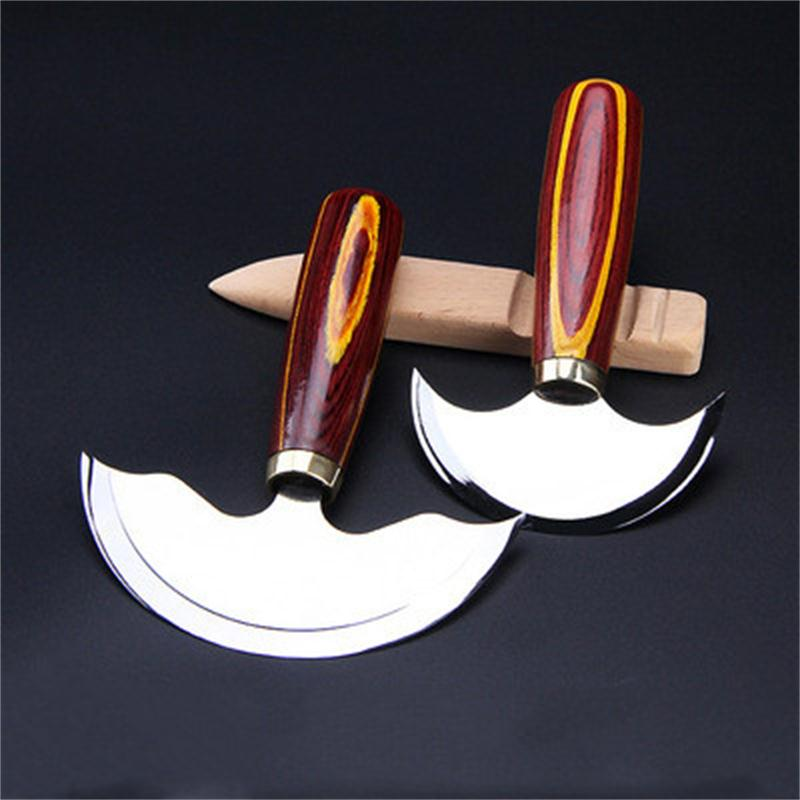 1pcs quality high speed leather steel kitchen Semicircular Manual knife DIY skin-peeler carving artistic tool new
