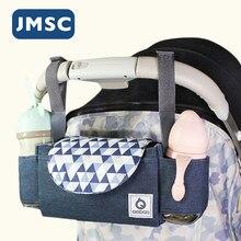 Органайзер JMSC для детской коляски, водонепроницаемые вместительные уличные дорожные подгузники, аксессуары для мам