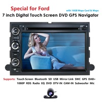 Fit Ford F 150 F 250/350/450/550 Mustang In dash DVD GPS Navigation Stereo BT Steering Wheel Ctrl DAB RDS DVBT TPMS MAP REAR CAM