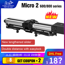 Zeapon mikro 2 E600 E800 M600 M800 DSLR kamera raylı Slider ultra sessiz motorlu çift mesafe parça Slider kamera için vs yc