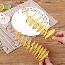 Портативный спиральный резак для картофеля, Ломтерезка для огурец, спиральный резак для картофеля, кухонные аксессуары, кухонные инструменты