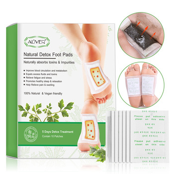 10pc Ginger Revitalizing Detox Foot Patch With Adhersive Foot Care Improve Sleep relieve fatigue Slimming Foot Sticker Foot Pads 1box lavender detox foot patches pads nourishing repair foot patch improve sleep quality slimming patch loss weight care