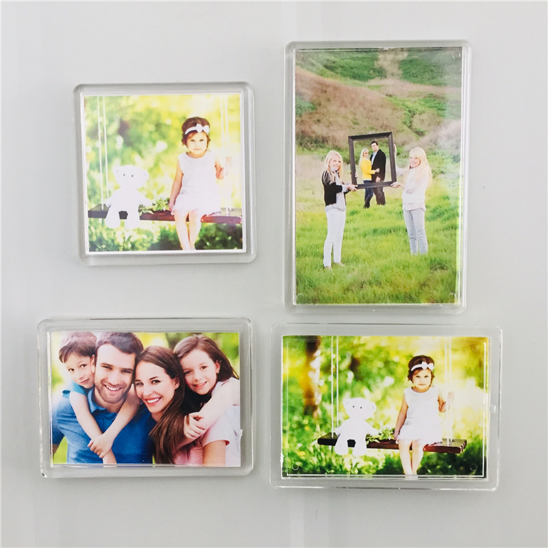 Купить с кэшбэком Blank Clear Acrylic Fridge Magnets Frame;4 different size available, QUALITY PREMIUM PHOTO FRAME