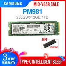 SAMSUNG SSD M.2 PM981 256 гб 512 гб 1 ТБ твердотельный жесткий диск M2 SSD NVMe PCIe 3,0x4 NVMe внутренний жесткий диск для ноутбука m.2