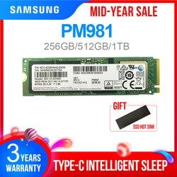 SAMSUNG SSD M.2 PM981 256GB 512GB 1TB Solid State Harde Schijf M2 SSD NVMe PCIe 3.0x4 NVMe Laptop Interne disco duro m.2