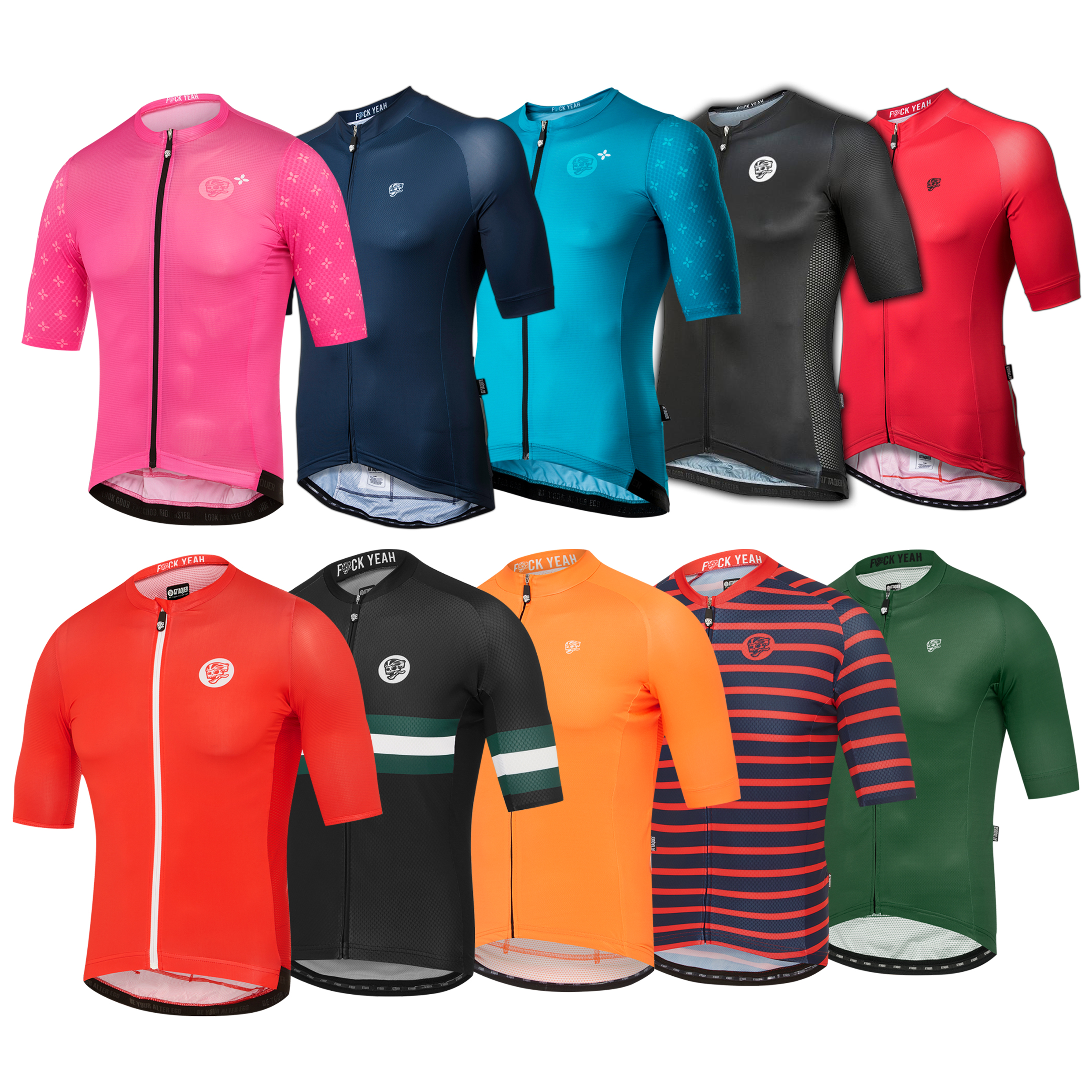 Colorful Cycling Jersey Attaquer Cycling Men Cycling Clothes Short Sleeve Road Bike Clothing Ropa Ciclismo Outdoor MTB Maillot