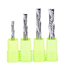 цены 1pc SHK 3.175mm 4mm 5mm 6mm AAA left handed 2 spiral flute bits, Down Cut carbide endmill, Left-Handed spiral cutter