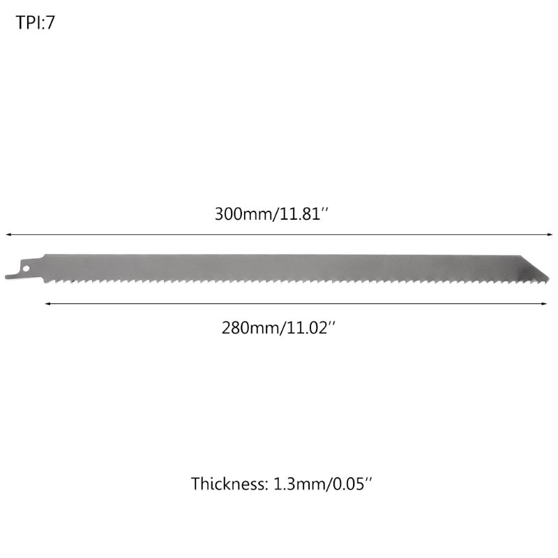 Stainless Steel 300mm Reciprocating Power Saw Blade With Fine Tooth Effective For Cutting Wood Woodworking Tool Accessories C63E