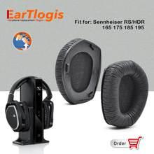 EarTlogis – coussinets d'oreille de remplacement, pour Sennheiser RS165 RS175 RS185 RS195 HDR165 HDR175 HDR185 HDR195