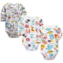 Baby Boys Clothing Newborn Bodysuit Long Sleeve Set 3 6 9 12 18 24 Months 3 Pack Infant Girls Clothes все цены