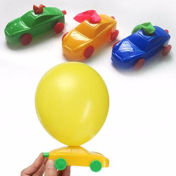 Portable DIY Balloon Car Funny Toys Science Experiment Equipment Intelligence Developmental Toys Balloon Car Kids Toys image