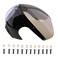 Motorcycle Vintage Plastic Head Light Bolt On Headlight Protector Fairing