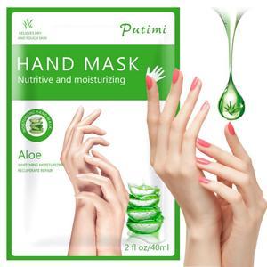 1Pair Aloe Hand Mask Peel Hand Care Moisturize Spa Gloves Whitening Lavender Hand mask Exfoliating Hand Scrub Remove Dead Skin