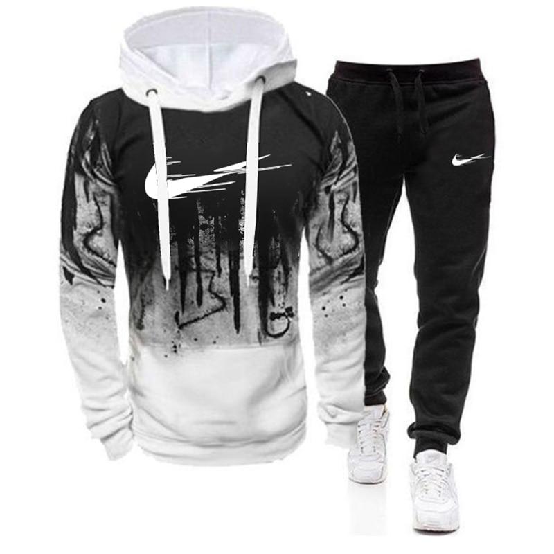 Casual Sweatshirts Tracksuit 2020 Brand Sportswear new Autumn and winter Men's Sets hoodies+Pants Harajuku Sport Suits