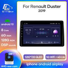 prelingcar For Renault Duster Arkana 2019 Car monitor Radio Multimedia Video Player Navigation GPS Android 10 4G LTE DSP stereo