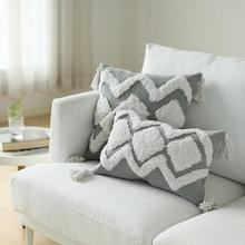 В стиле бохо, декоративный наволочка, спальня, гостиная-современная пуховая подушка, набор с кисточками, милая Наволочка на талии