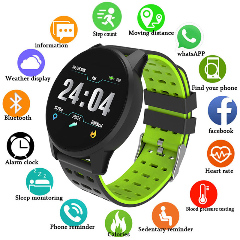 Smart Wristband Blood Pressure Oxygen Monitor Men Women Heart Rate Monitor GPS Activity Fitness Tracker Pedometer Sport Watch