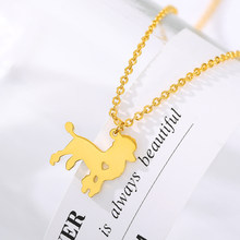 Gold Pug Necklace Pendant Puppy Heart Pendant Dog Memorial Pet Necklaces & Pendants Women Animal Charm Christmas Gift(China)