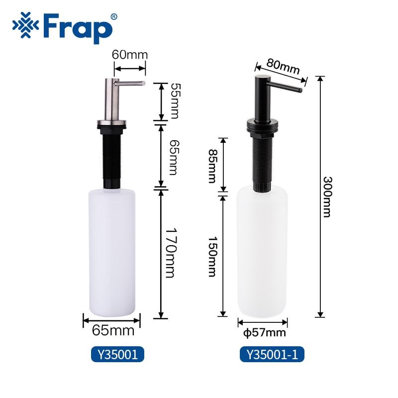 Frap Kitchen Soap Dispenser Bathroom Dispenser for Liquid Soap Lotion Dispensers Tools Stainless Steel Head + ABS Bottle Y35001 2