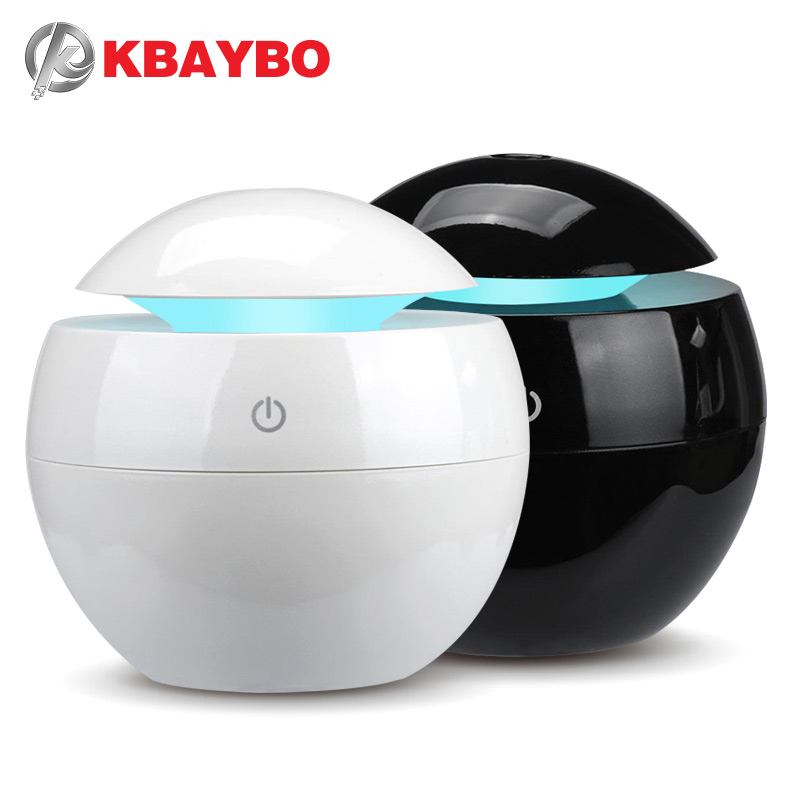 KBAYBO 130ML Ultrasonic Aromatherapy Essential Oil Diffuser Home Electric Air Purifier Humidifier With 7 Colors LED Lights