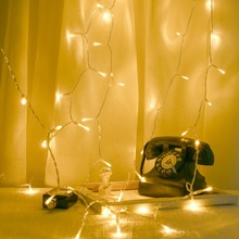 LED Warm White String Lights USB Power Curtain Fairy Lights Christmas Garland Lights Party Garden Home Wedding Decor