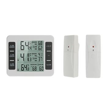 Domowe bezprzewodowe wewnętrzne termometry zewnętrzne elektroniczny termometr do lodówki pomiar temperatury urządzenia tanie i dobre opinie CN (pochodzenie) GJ4556 Lodówka termometry Z tworzywa sztucznego Cyfrowy