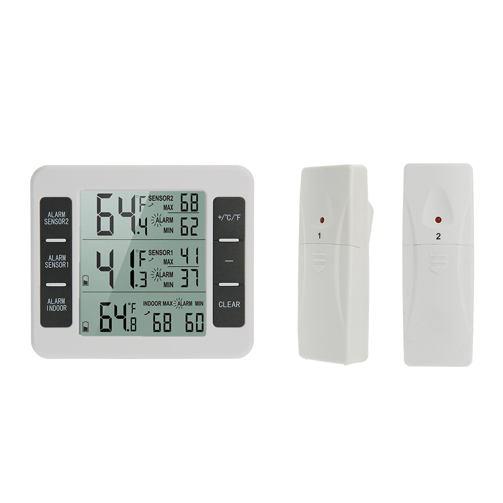 Home Wireless Indoor Outdoor Thermometers Electronic Refrigerator Thermometer Temperature Measuring Device