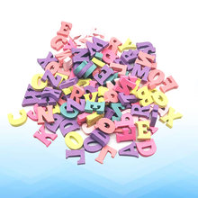 100pcs Wood Crafts Colorful Wooden Portable Letters Slices Decoration for Craft Woodwork(China)