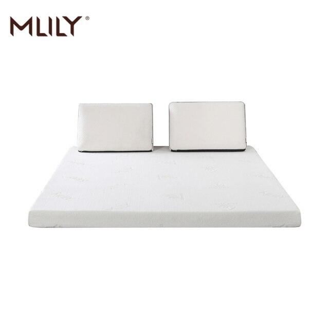 Mlilyหน่วยความจำโฟมที่นอนToppperสำหรับเตียงKing Queen Full Twinขนาด5ซม.2นิ้วที่นอนเฟอร์นิเจอร์ห้องนอน